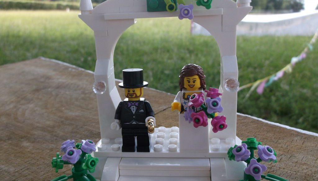 Norfolk based independent celebrants - Lego Bride and Groom