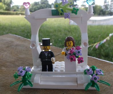 Norfolk based independent celebrants - Lego Bride and Groom